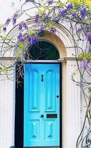inner city terrace garden design door